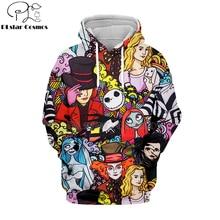 PLstar Cosmos jack skellington Jack Sally 3d hoodies/shirt/Sweatshirt Winter Nightmare Before Christmas Halloween streetwear-29 недорого