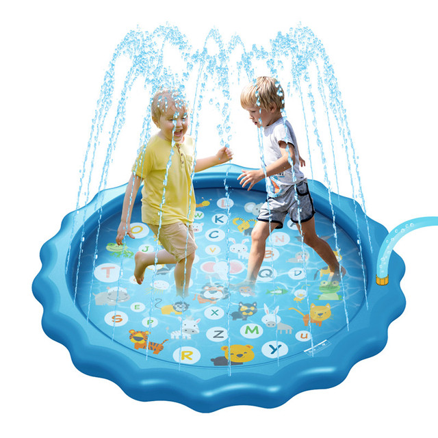 170cm Summer Outdoor Spray Water Toys Cushion PVC Inflatable Mat for Children Play Water Mat Games Beach Lawn Sprinkler Pads