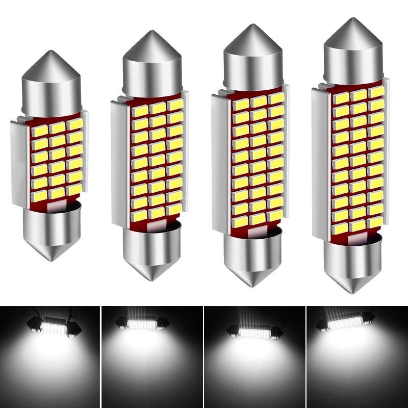 1pcs 31/36/39/41mm Double Point High Light Car Coding Reading Light Led Interior Car Light Voiture Light-emitting Diode Bulb