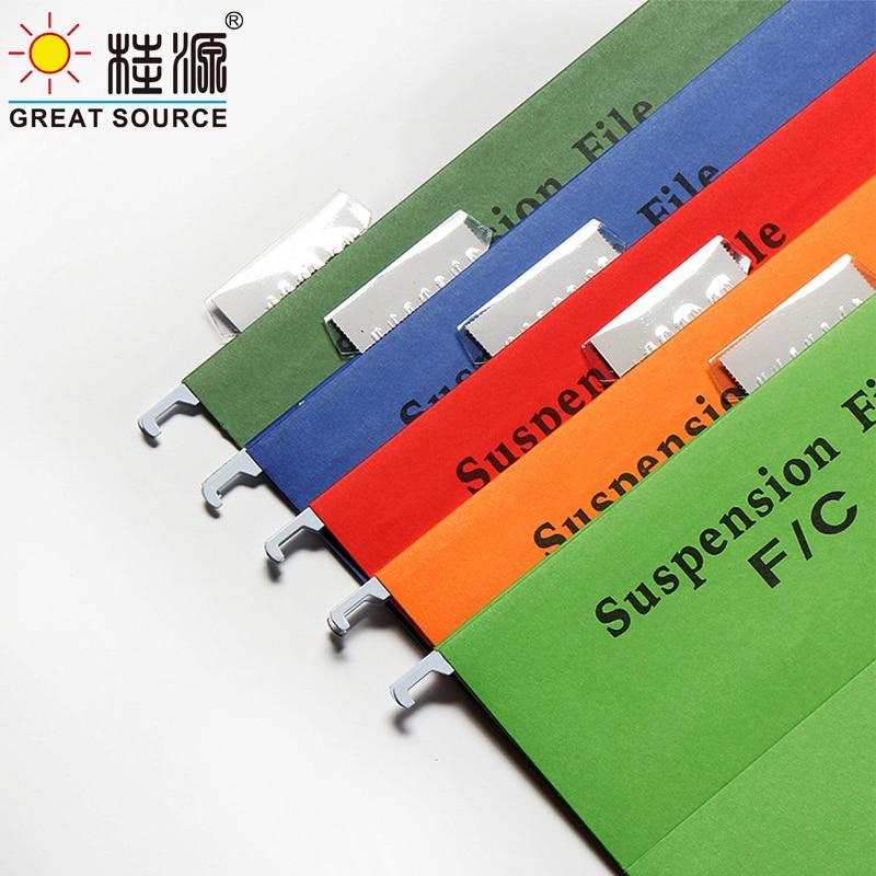 Премиум тяжеловесные файлы Подвески с вкладками Foolscap 240X370 мм офисные домашние файлы(упаковка из 5