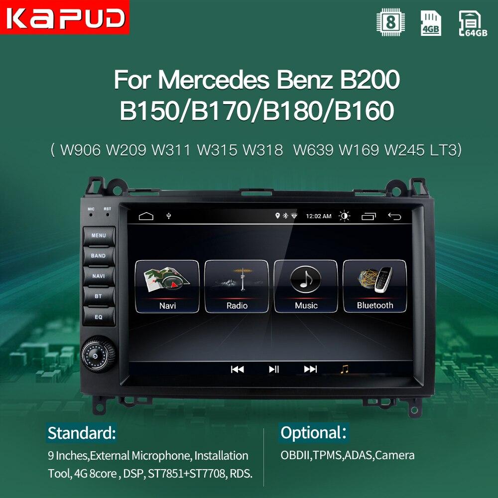 Kapud Multimedia Auto receptor de Radio estéreo Android Navigatie Voor Mercedes Benz B200 W169 W245 W639 Viano Vito DSP Gps DVD