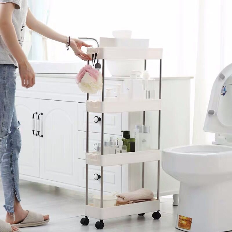 The Goods For Toilet Rack Slot Storage Rack Kitchen Refrigerator Washing Machine Toilet Narrow Slot Rack Shelf Wheels Floor Type