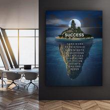 Hd печать домашний декор Холст Морская Гора плакат успех живопись
