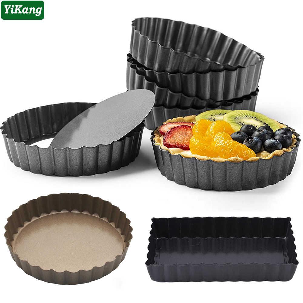 Tart Pie Pan Cake Baking Tray Non Stick Base Removable Bottom Mold Accessory New