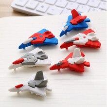 1 шт. креативный авиационный резиновый ластик мультяшная милая игрушка животное резиновый подарок для начальной школы канцелярских принадлежностей для детей