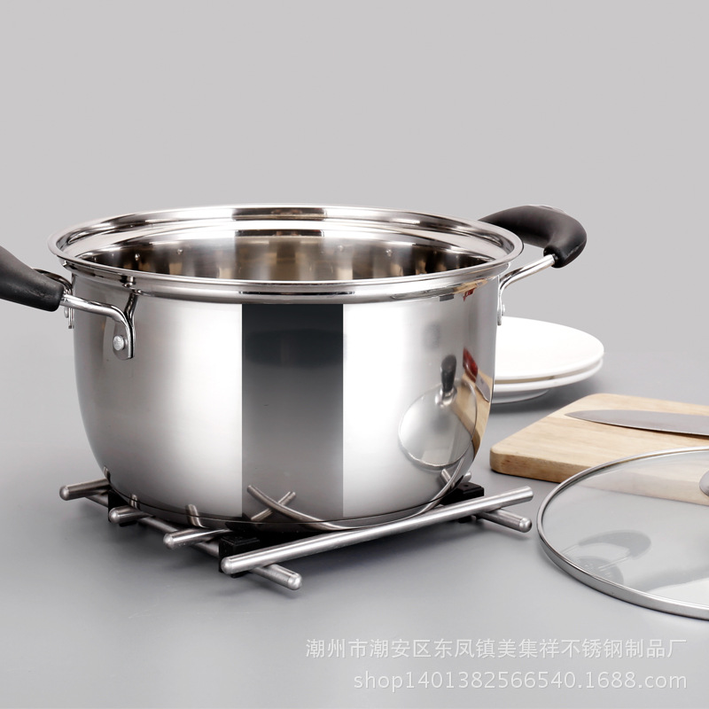 1pcs  Double Bottom Pot Soup  Pot Multi-purpose Cookware Non-stick Pan Pot Nonmagnetic Cooking 1