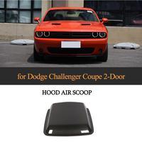 For Dodge Challenger Coupe Car Front Hood Air Vent 2015 2019 Carbon Fiber Car Hood Vents Air Flow Intake Bonnet Cover