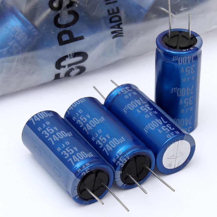 10 шт. Новый ELNA RJD 35V7400UF 18x40 мм синий халат 7400 мкФ 35 в аудио электролитический конденсатор rjd 7400 мкФ/35 в аудио фильтр для жара