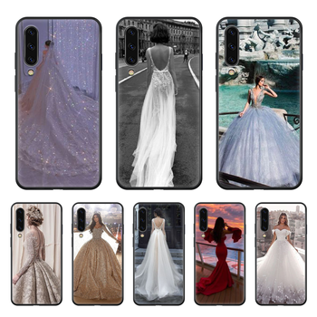 Wedding dress marry Love Phone case hull For Samsung Galaxy A 50 51 20 71 70 40 30 10 E 4G S black funda painting waterproof image