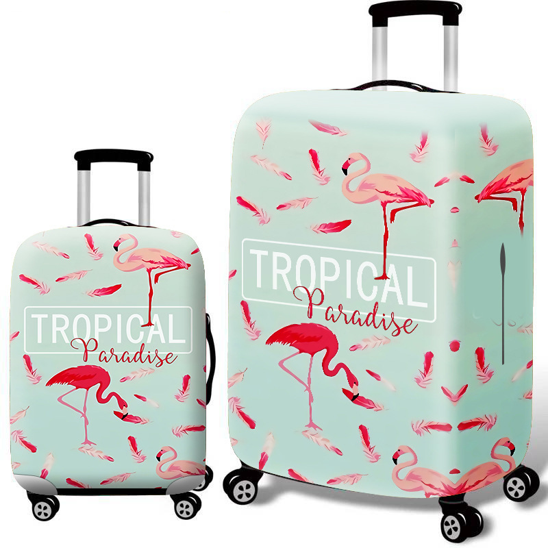 2019 Flamingo Elastic Force Luggage Cover 18-32 Inch Set Trunk Protect Sheath Travel Pull Rod Suitcase Thickening Dustproof Bags