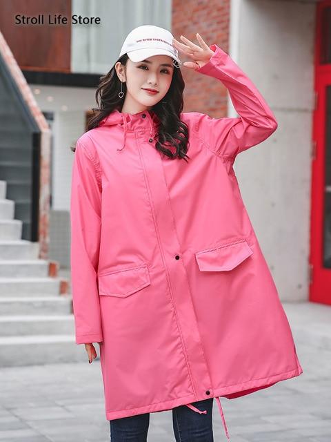 Long Adult Rain Coat Women Waterproof Suit Rain Poncho Outdoor Hiking Windbreaker Yellow Raincoat Jacket Gabardina Mujer Gift 3