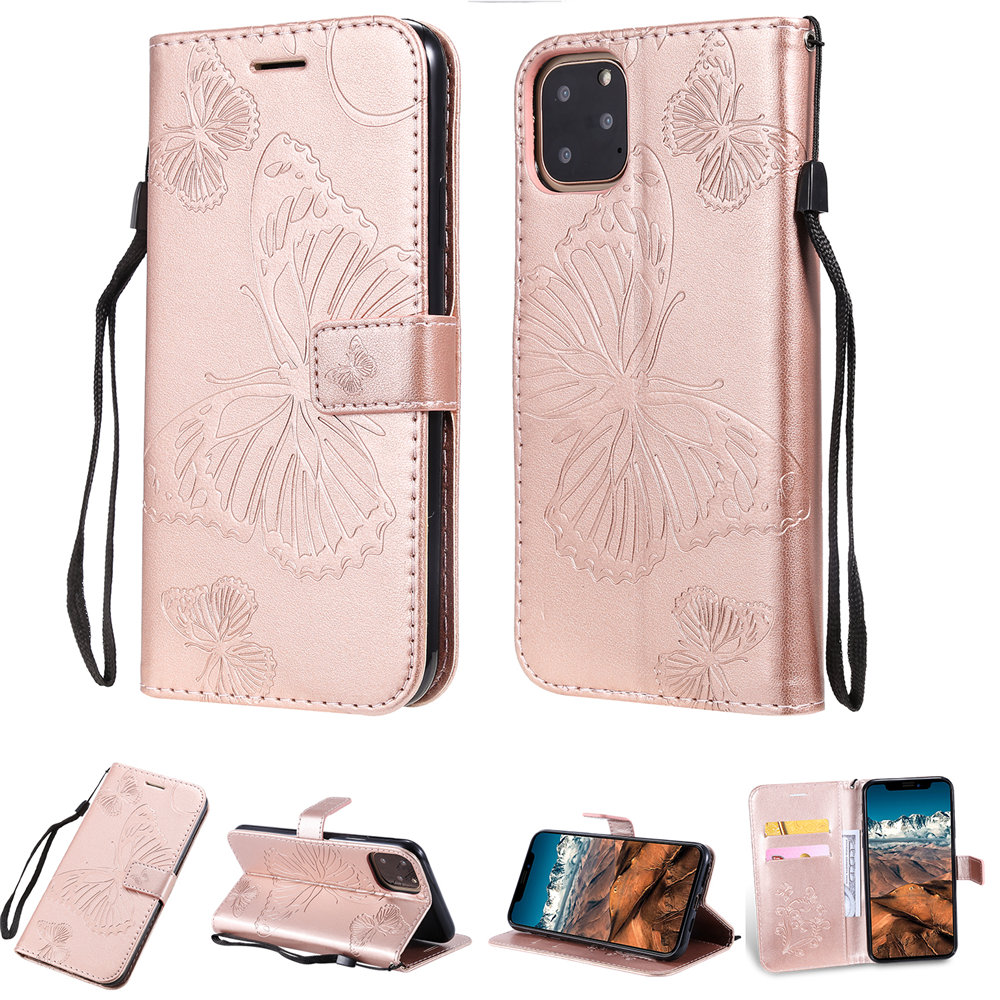 Butterfly Leather Wallet Case for iPhone 11/11 Pro/11 Pro Max 13