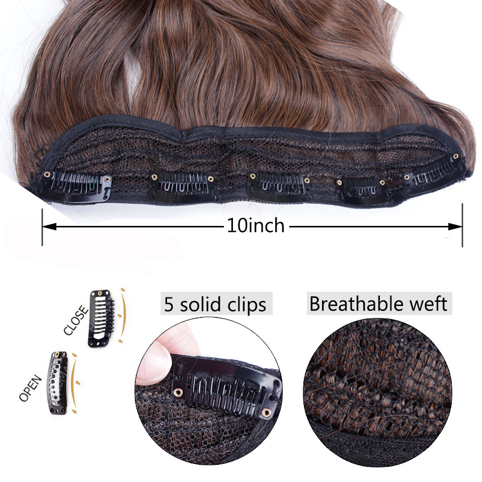 H444a37b9b167447785ea4706109a9870L - s-noilite Long wavy Clip in One Piece hair Extensions hair synthetic natural hair Black Brown blonde women clip in hairpiece