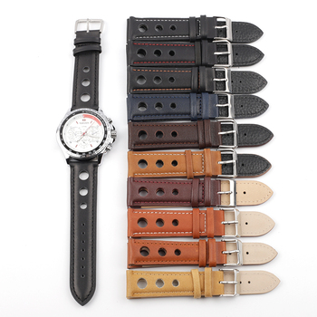 Trendy Genuine Leather Watch Strap Band 18mm 20mm 22mm 24mm Men Watchband With Stainless Steel Buckle Watch Accessories цена 2017