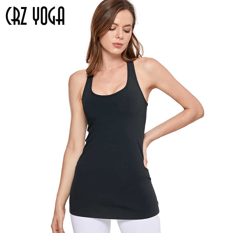 CRZ YOGA Seamless Workout Tank Tops for Women Racerback Athletic Tank Tops