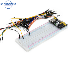 NEW MB-102 Breadboard 830 Point Weldless Prototype PCB Board Kit Is Used for Arduino Proto Shield Distribution Connections