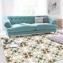 купить Europe Geometric sticker flower Red green door mat bedroom Strip carpet Living room floor mat Kitchen non-slip mat custom made по цене 1494.11 рублей