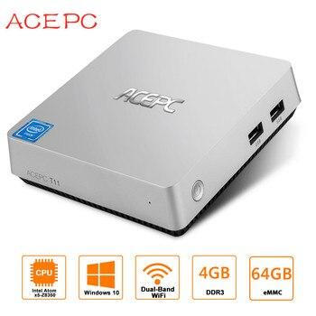 MINI PC Fanless Intel Compute Stic Atom Z8350 1.92GHz 4GB RAM 64GB Windows 10 USB3.0 2.5 inch HDD DDR3 Mini Computer Desktop PC