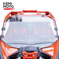 Kemimoto pára-brisa  resistente a arranhões  pmma  para can-am maverick x3 900/turbo/x rc/x rs/x ds/x mr/max 1/4
