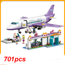 Heart Lake City Series Airport Building Blocks Brick Mini Figure Model Girl Toys For Children Compatible With Friend цена