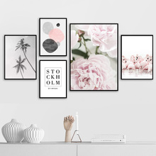 Flamingo Coconut Tree Flower Quote Wall Art Print Canvas Painting Nordic Posters And Prints Pictures For Living Room