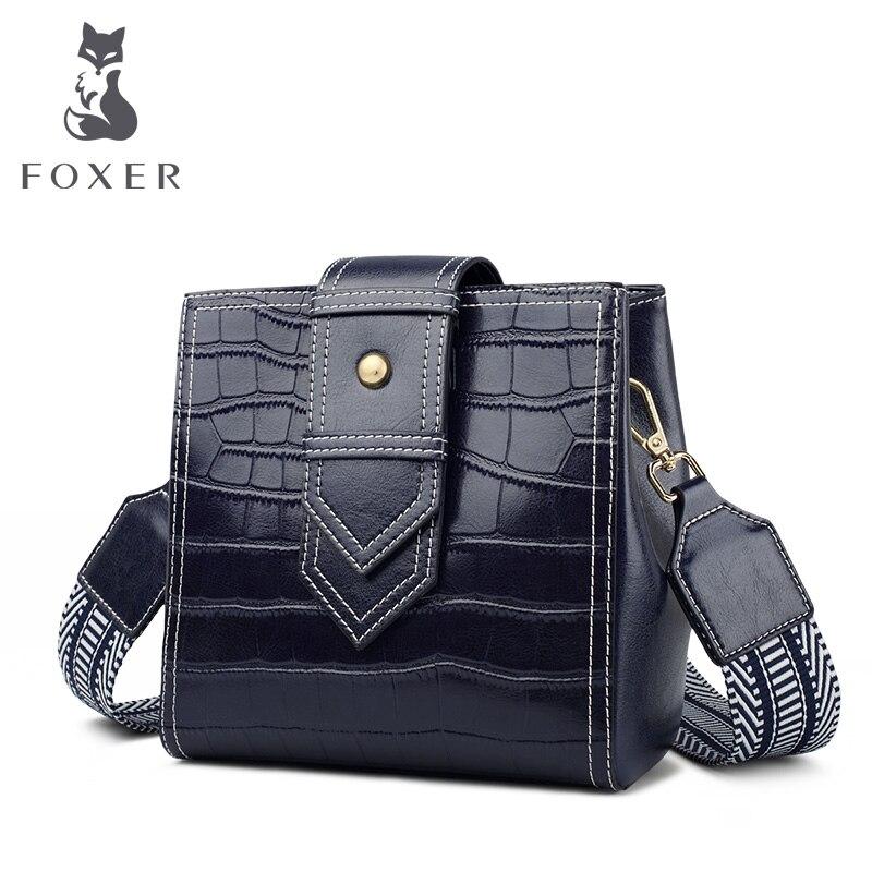 Bolsa de Ombro para as Mulheres de Couro Bolsa das Senhoras da Alta Qualidade da Marca Foxer Bolsas Crossbody Bolsa Chique Clássico Elegante Feminino Presente Perfeito