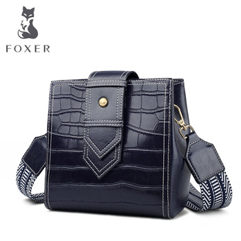 FOXER Shoulder Bag for Women Leather Crossbody Bags Chic Purse Ladies High Quality Classic Brand Bag Stylish Female Perfect Gift