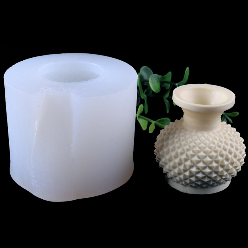 3D <font><b>Flower</b></font> <font><b>Vase</b></font> Resin <font><b>Mold</b></font> Silicone Cement Planter Concrete Pot Clay <font><b>Mold</b></font> For DIY Craft Hand Made Aromatherapy Gypsum Bottle Tool image