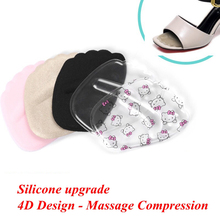 1Pair High Heels Insoles Woman Forefoot Protection Pad Half Yards Silicone Soft Gel Inserting Insole  Female Insert
