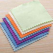 10 шт 8x8 см 925 пробы серебряный цвет ткань для очистки полировки