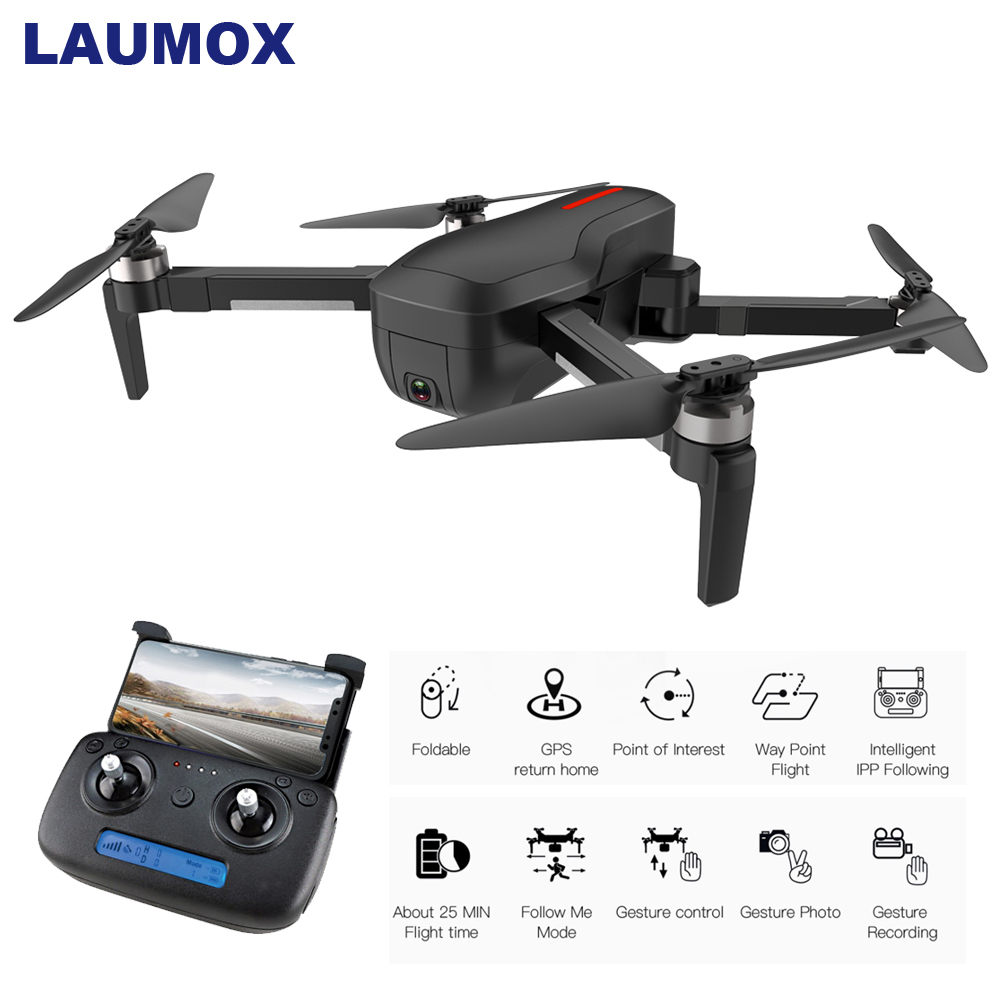 LAUMOX W10 <font><b>Drone</b></font> GPS 5G WIFI FPV With 4K HD Camera Brushless Selfie Foldable RC Quadcopter Dron Vs ZLRC Beast SG906 <font><b>CG033</b></font> F11 image