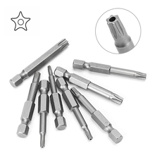 8 Pcs/Set 1/4 Inch 50mm T8-T40 Magnetic Torx Electric Screwdriver Bits Kit