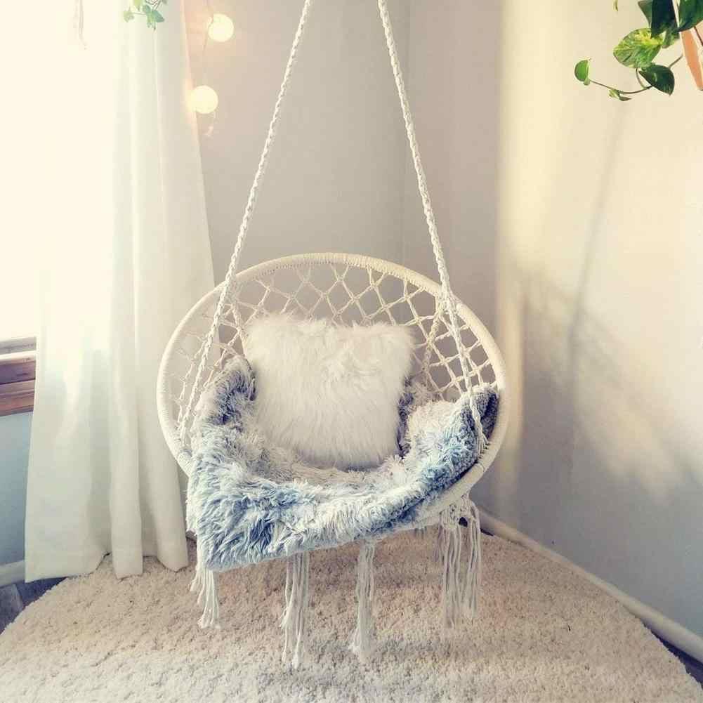 Hammock Chair Macrame Swing Hanging Cotton Rope Macrame Hammock Swing Chair Indoor Outdoor Home Hanging Chair Bear 260 Pounds Aliexpress