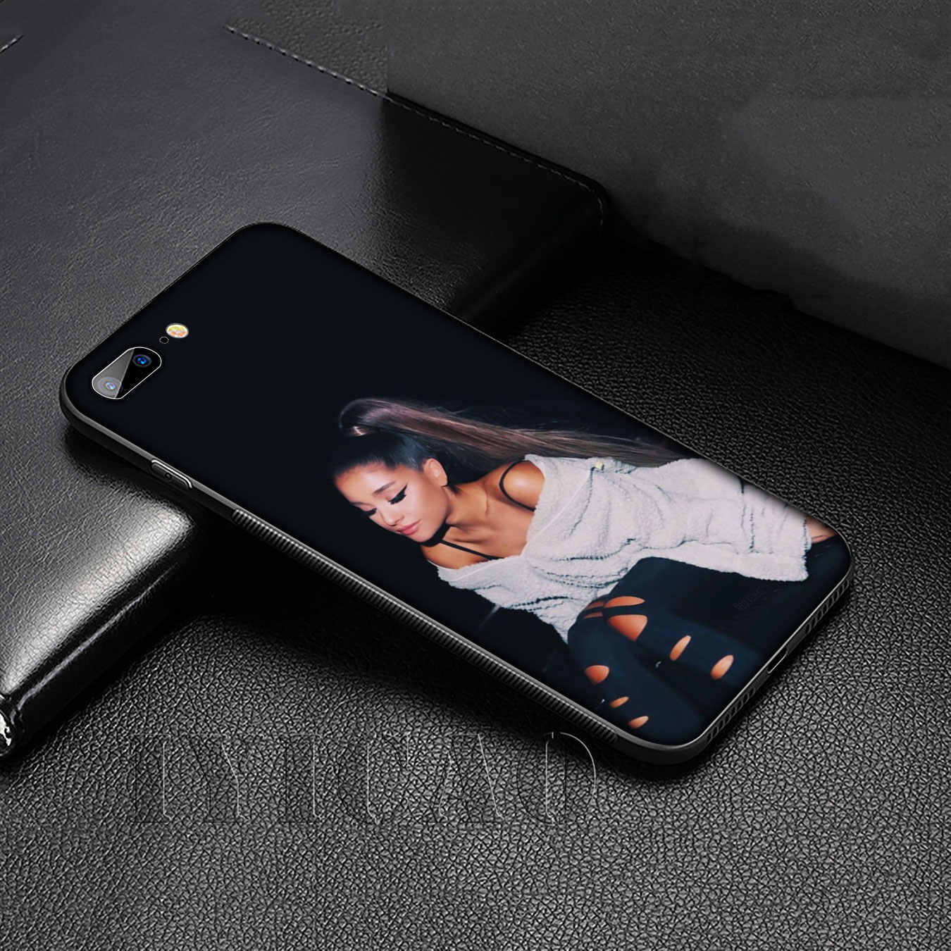 IYICAO Ariana Grande POP Zanger Soft Silicone Cover Case voor iPhone 11 Pro XR X XS Max 6 6S 7 8 Plus 5 5S SE Black Phone Case