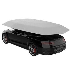 4,5x2,3 м новый уличный автомобильный тент для автомобиля зонтик солнцезащитный Чехол Ткань Оксфорд полиэфирные Чехлы без кронштейна серебри...