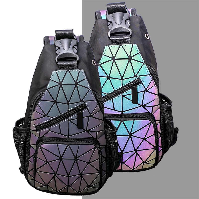 Новый дизайн, нагрудные сумки для женщин, двойная сумка на плечо, Брезентовая светящаяся сумка через плечо для женщин, короткая дорожная сумка с разъемом для наушников