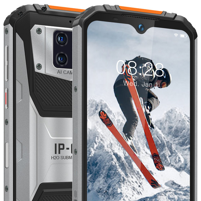 OUKITEL WP6 10000mAh 6.3'' FHD+ IP68 Waterproof Mobile Phone 6GB 128GB Octa Core 48MP Triple Cameras Rugged Smartphone