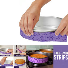 Bakeware ferramentas 2 pçs bolo pan tiras assar mesmo tira cinto bolo ferramentas assar nível úmido bolo assadeira outils accessoires