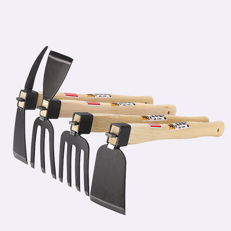 High Quality Gardening Tool Wooden Handle Hoe For Home Garden Farming Agriculture Flower Planting Hand Tools