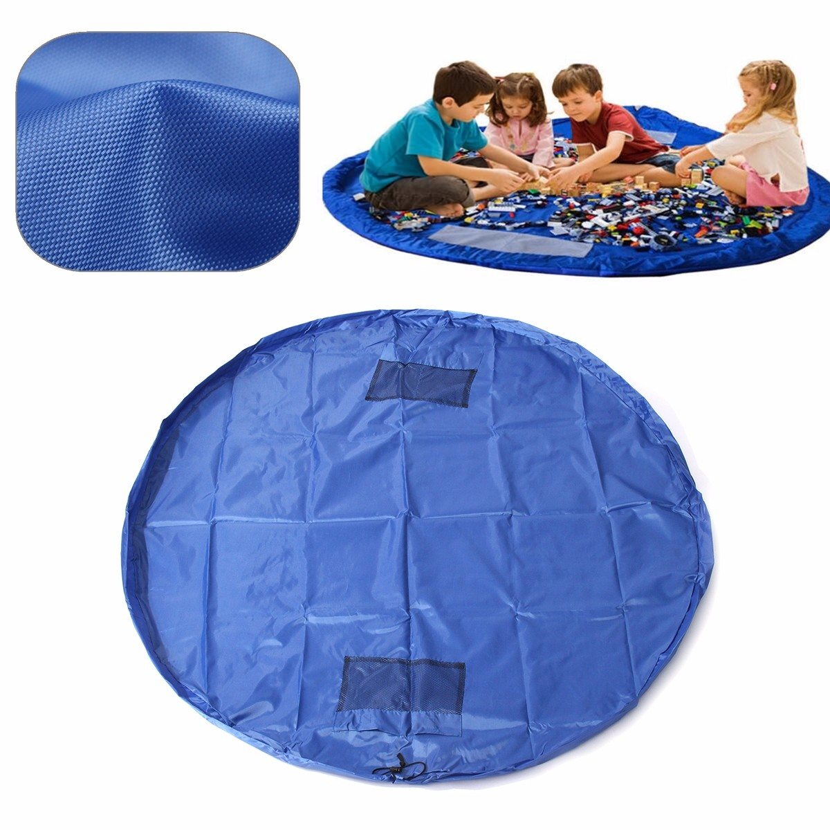 1PC 150cm Kids Play Mat Waterproof Play Mat Pink/Blue Multifunctional Toy Storage Bag Play Carpet For Children Kids