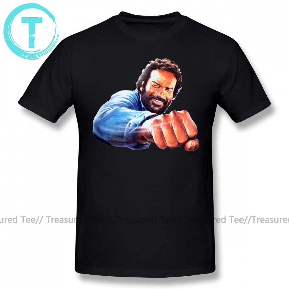 Cotton Men T Shirts Classical 2018 Short Sleeve Hipster Tees Bud Spencer Hill 55 Fan Movie Rugbyer Dvd Idea Beer T Shirt