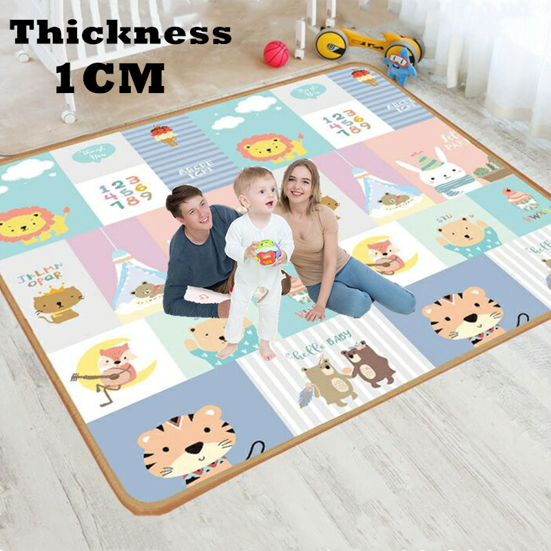 XPE 1cm Environmentally Friendly Thick Baby Crawling Play Mat Folding Mat Carpet Play Mat for Children's Safety Mat Rug Playmat