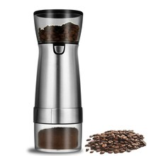 USB Rechargeable Coffee Grinder Stainless Steel Professional Coffee Bean Mill Machine for Nuts Beans Spices Grains Pepper