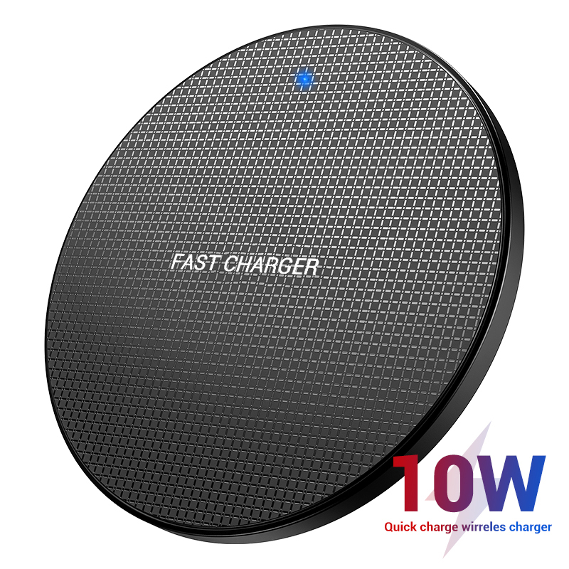 10W מהיר אלחוטי מטען עבור iPhone 11 Por Xs Max XR X 8 7 בתוספת מהיר טעינת Pad עבור סמסונג S10 S9/S9 + S9 הערה 10