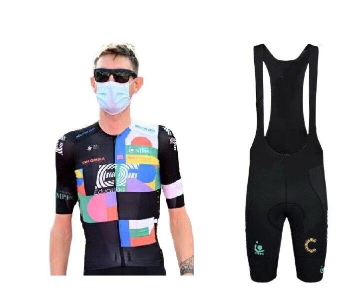2021 EF EDUCATION FIRST PRO TEAM ITALIA Велоспорт Джерси с коротким рукавом летняя одежда ROPA CICLISMO + нагрудники шорты с POWER BAND