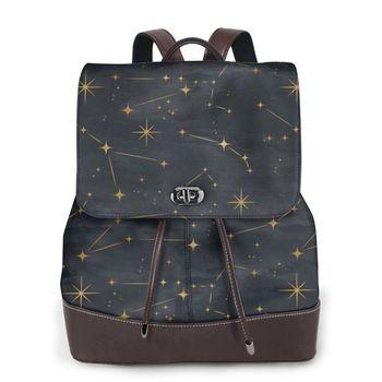 NOISYDESIGNS Laptop Backpack For Men New Design Constellation Stars School Bags For Teenage Knapsack Male Dropshipping