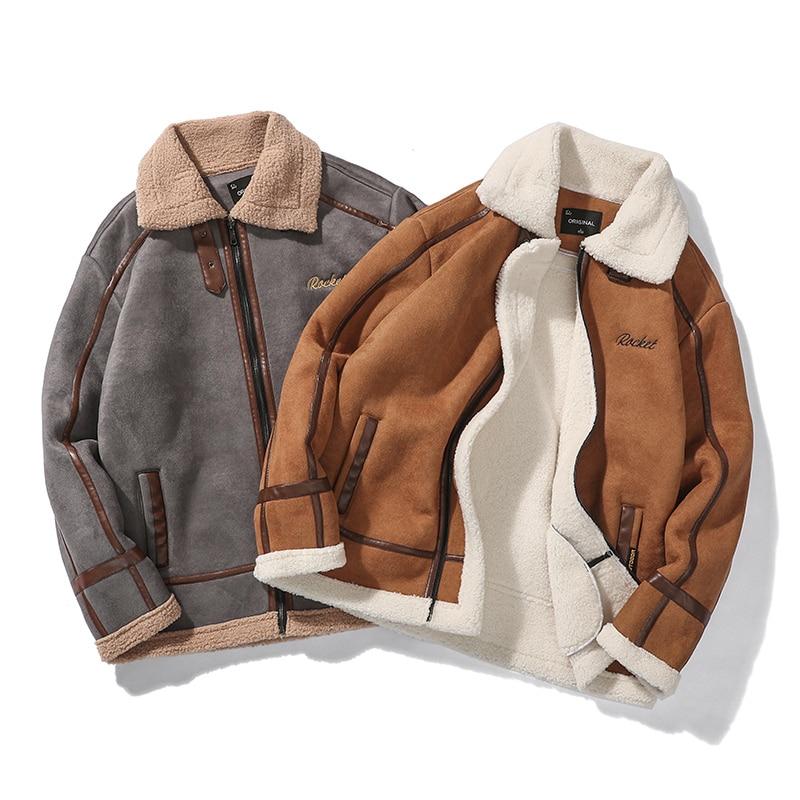 H444c2f6d176d4981b474cef048b48477f Men Autumn Casual Warm Fleece Military Leather Jackets Parkas Men Winter Windproof Waterproof Outwear Parka Coat Jackets Men