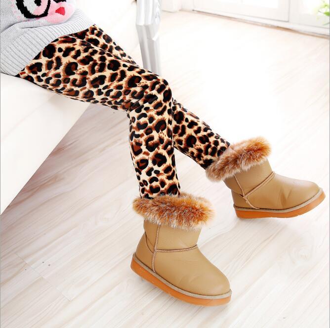 VEENIBEAR/осенне-зимние штаны для девочек, бархатные плотные теплые леггинсы для девочек, детские штаны, одежда для девочек на зиму, От 2 до 7 лет - Цвет: baowen