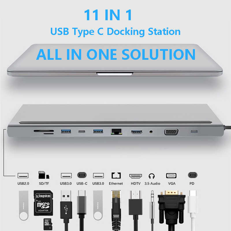 USB-C 3.1 to DVI HDMI VGA Display Adapter 4K USB 3.0 For Lenovo Thinkpad T480