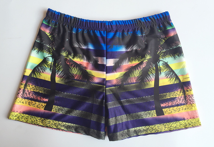 Waterproof Swimming Trunks Men's Boxer Summer Printed Plus-sized Shorts Fashion Quick-Dry Bubble Hot Spring Men Loose-Fit Swimmi